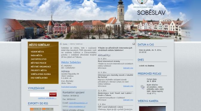 Soběslav má nový web