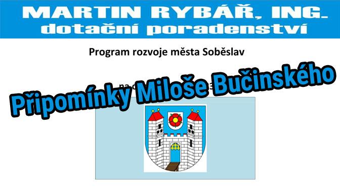 Připomínky k Plánu rozvoje – Miloš Bučinský