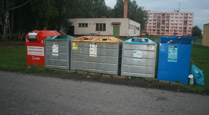 Kontejnery v Soběslavi