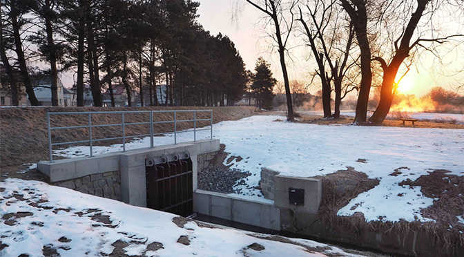 Klapka pro odlehčení kanalizace i Hvížďalky dokončena