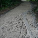 Stav cesty v současnosti po dešti
